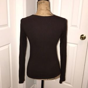 Guess by Marciano brown long sleeve shirt sz Small